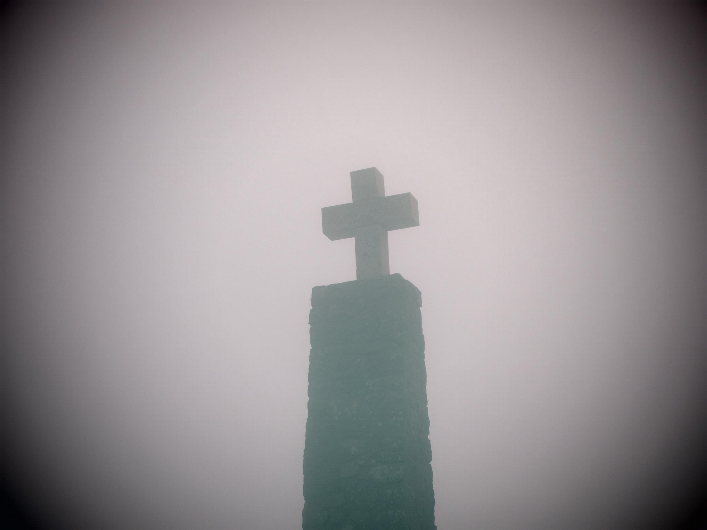 Kreuz im Nebel: Hier hilft keine Positionierung